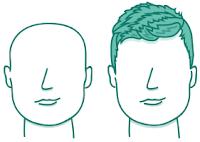 potongan rambut pria untuk wajah persegi