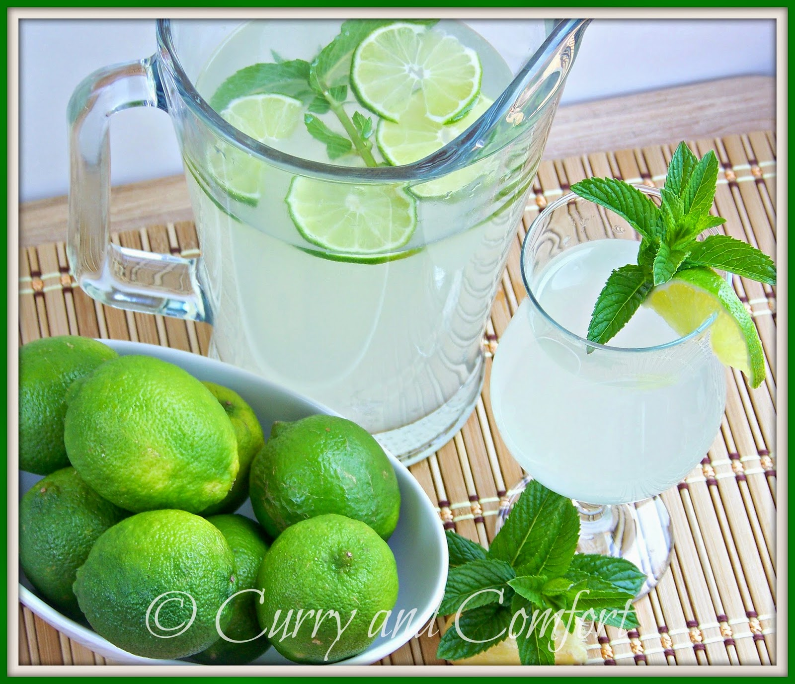 Kitchen Simmer: Lime Ginger Mint Cooler