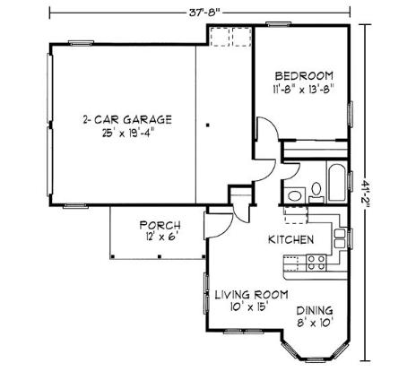Garage Plans With 1 Bedroom Apartment