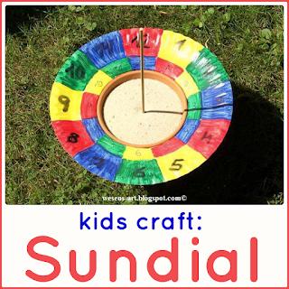 DIY sundial  wesens-art.blogspot.com