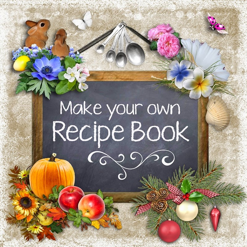 How to Make a Cookbook Scrapbook pictures