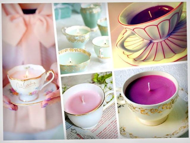 DIY como hacer velas con tazas de te recicladas
