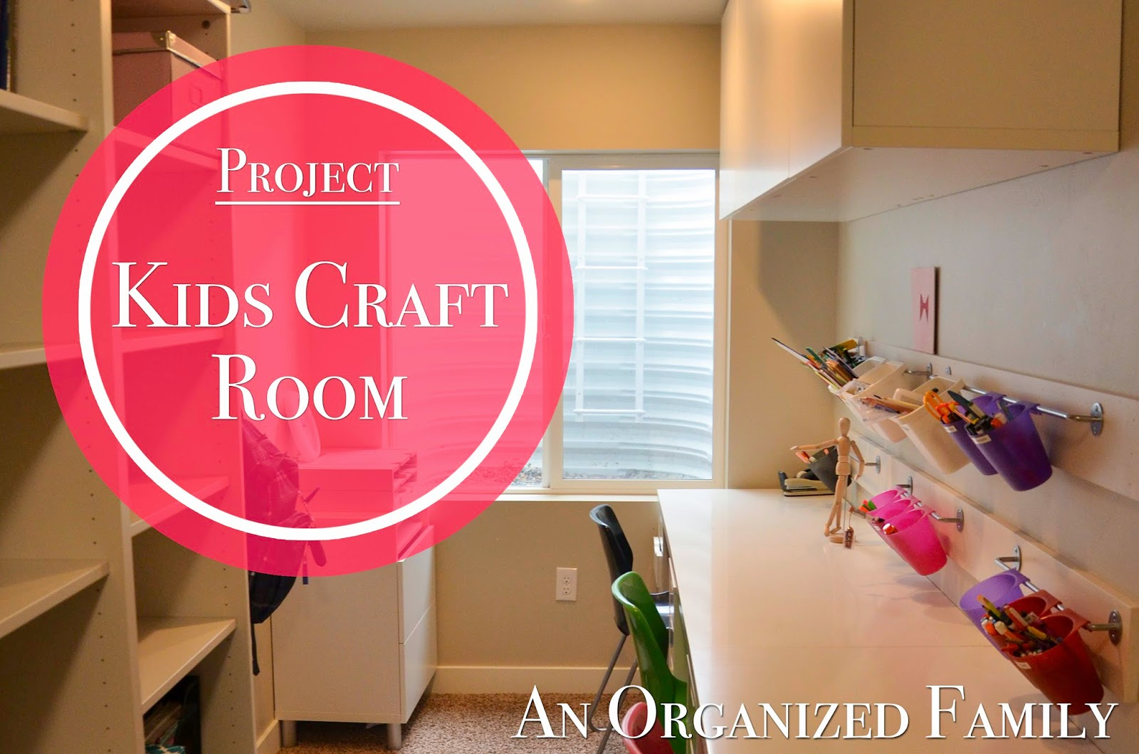 An organized family project kids craft and homework room for Kids craft room