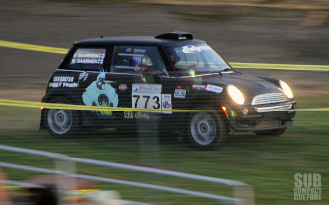 MINI on course at 2013 Oregon Trail Rally