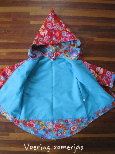 Voering jas, zelfgemaakt en ontworpen
