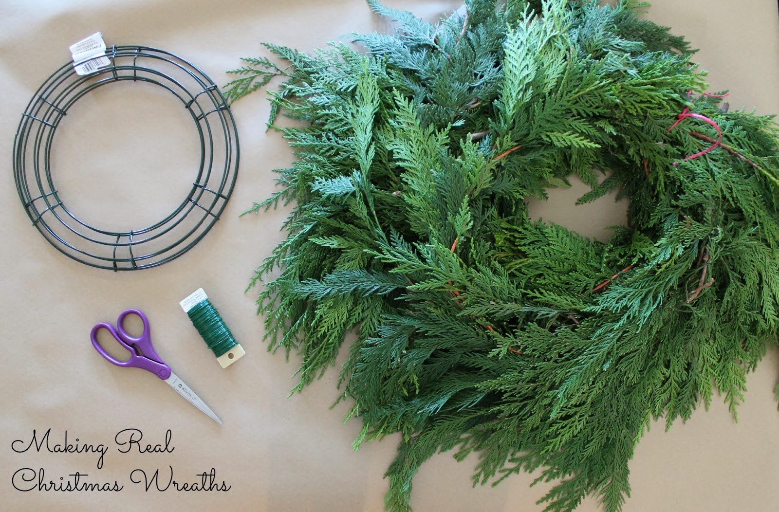 Wonderfully made making real christmas wreaths