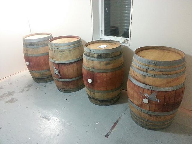 More Barrels 4 French Oak Wine Barrels freshly emptied Dank Brewing