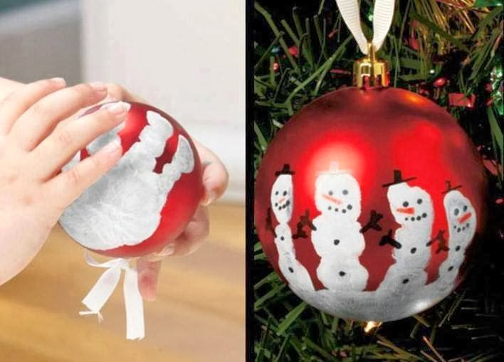 Now You Can Pin It!: Keepsake Hand Print Snowman Ornament