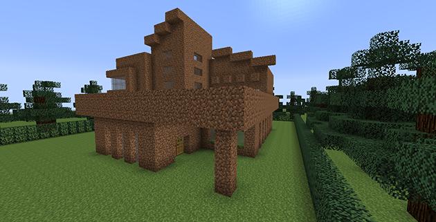 Gri disegni minegrift modern house 4 casa moderna de for Como aser una casa moderna y grande en minecraft