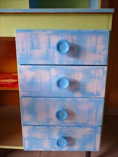 gavetas do armário de louça reformado