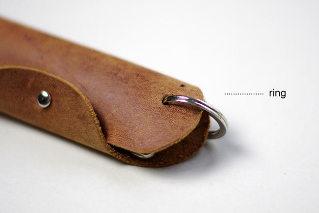 DIY Swiss Army Leather Keyring + free pattern {via www.fashionrolla.com}