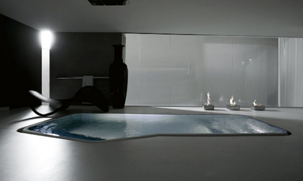 Modern Bathroom Design Features In Floor Bathtubs 171 Bdp