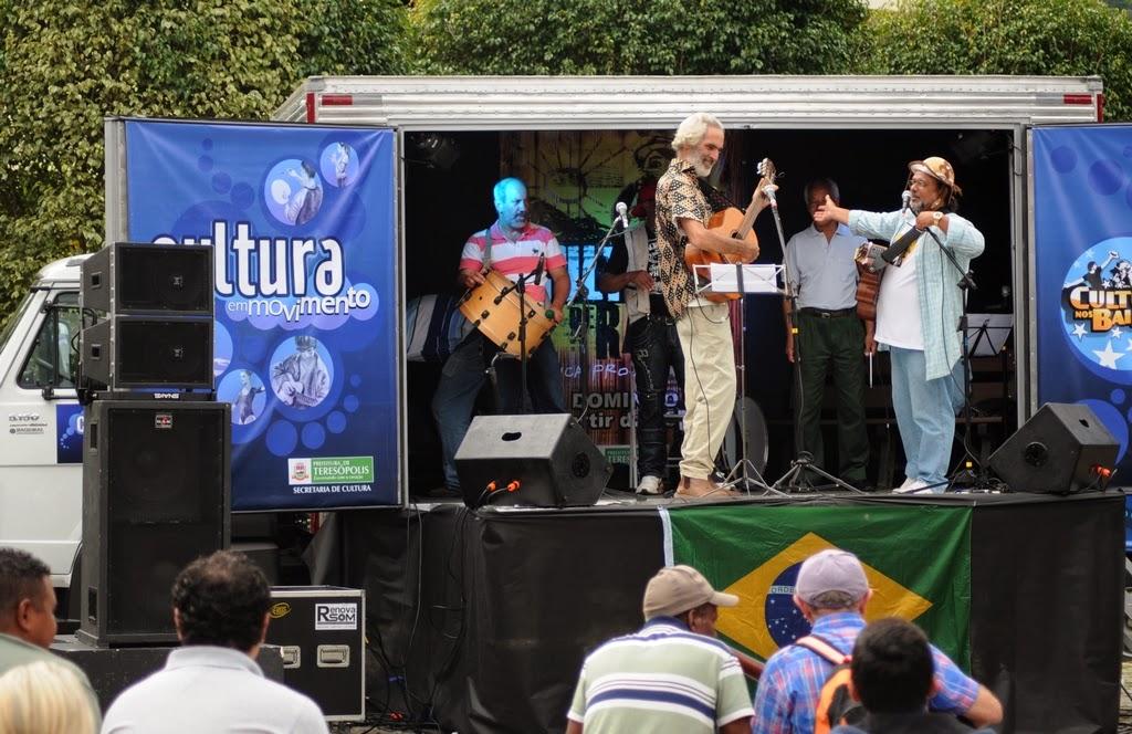 Arnaldo Almeida, Beto Selig e Írio Lima na abertura do programa