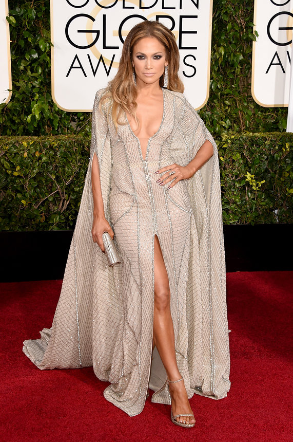 Jennifer Lopez in Zuhair Murad at the Golden Globes
