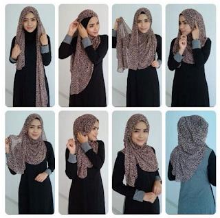 cara memakai jilbab simpel