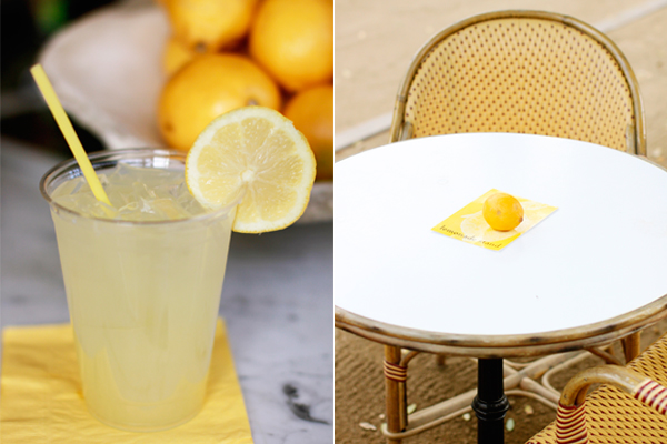 Freshly made lemonade at The Parker Palm Springs