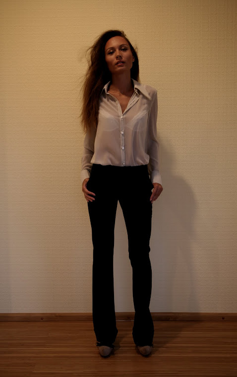EFL Glam Blouse and black pants