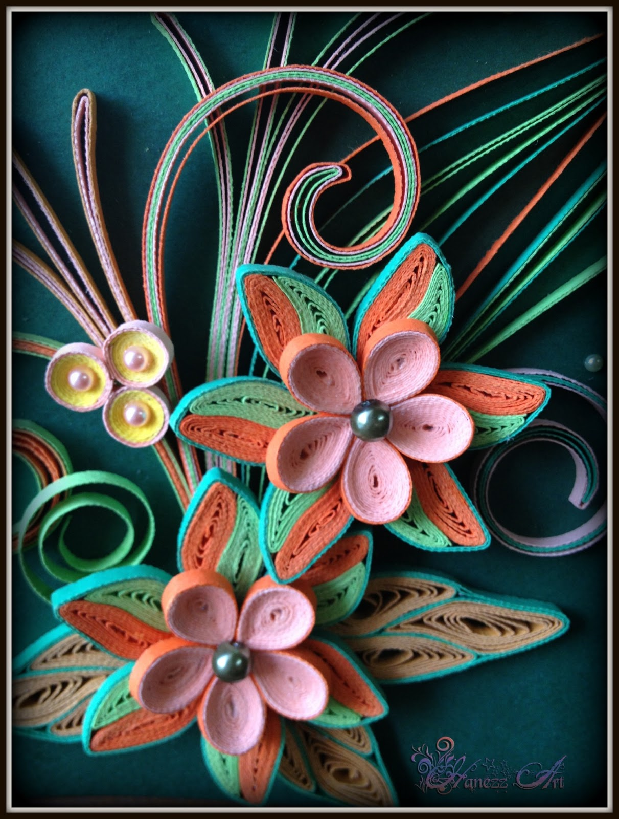hanezz art card d quilling congratulations on your promotion sir and here is the 3d quilling since her lecturer is a chemistry lecturer so i tried my best to make something that close to his job 3d chemist professor