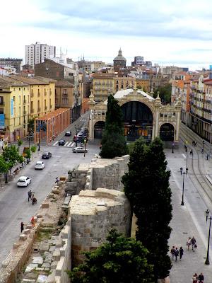 Restos de la muralla romana de Zaragoza