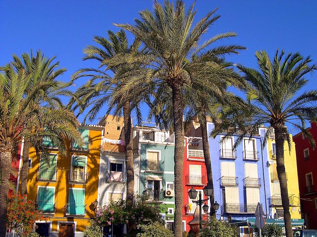 Casas coloridas de Vila Joiosa