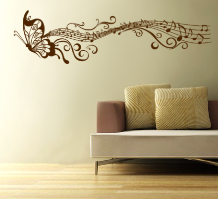 Butterfly wall decal : modern wall art decals - www.pureclipart.com