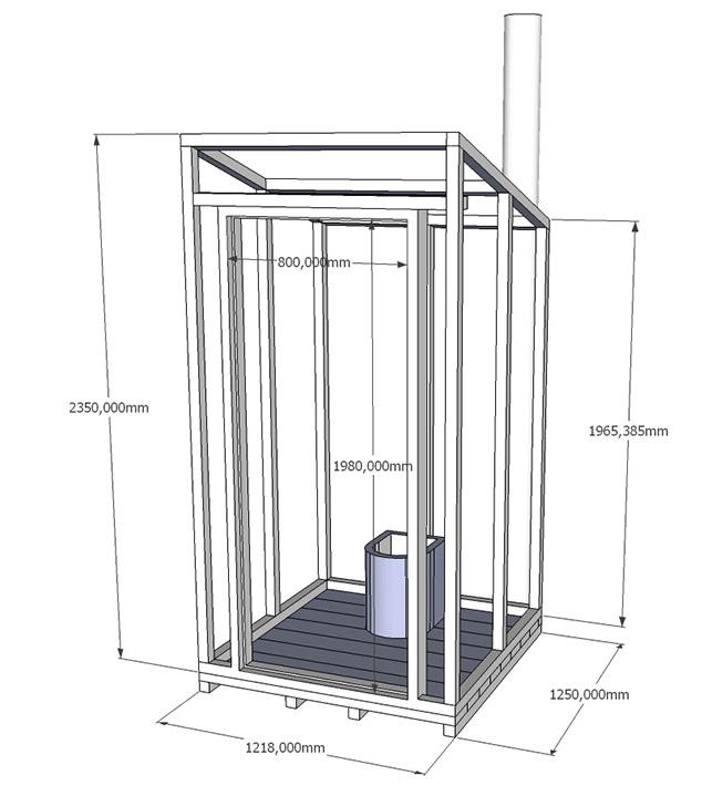 Как сделать туалет на даче с выгребной ямой 76