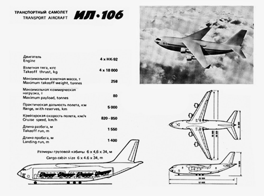 Il-106 Heavy military transport: News 1065