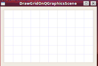 qt result qgraphicsscene with a grid