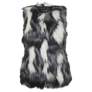 Miss Selfridge Faux Fur Gilet