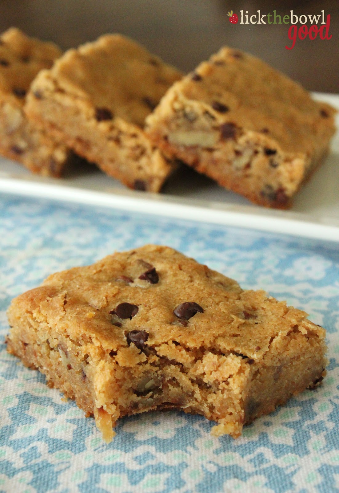 Lick The Bowl Good: Blondies, Bars, and A Cookbook Giveaway!