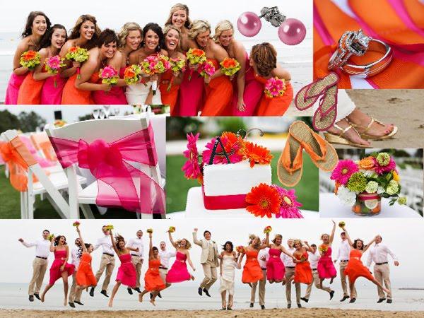 My Wedding Dress: Orange And Pink Wedding Theme