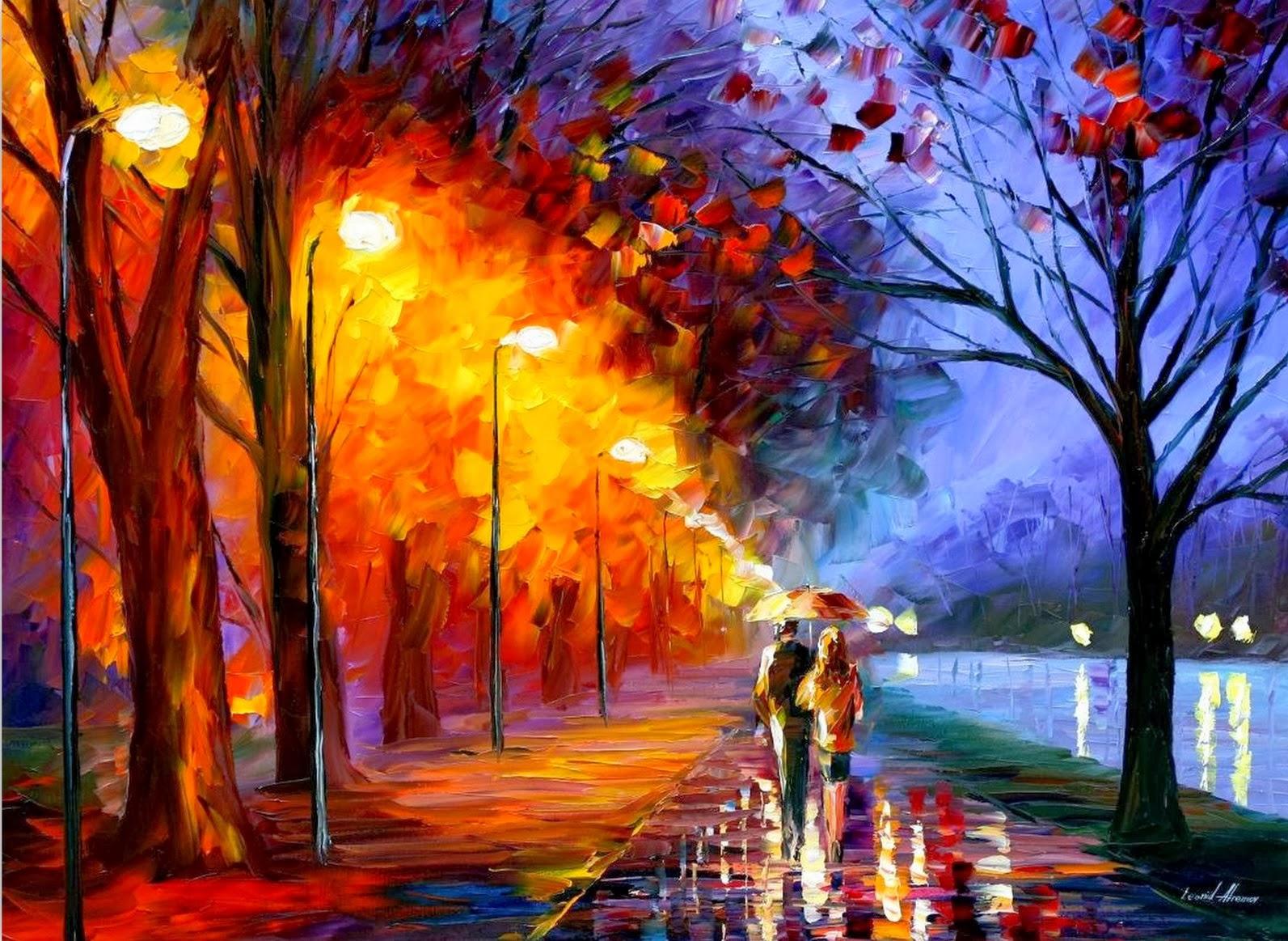 Cuadros modernos pinturas y dibujos paisajes pintados - Cuadros modernos con mucho color ...