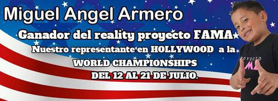 Proyecto_Fama_Colombia_Miguel_Armero_ representante_olimpiadas_mundiales_artes_Hollywood