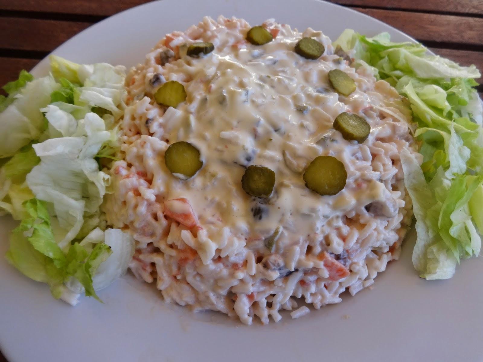 Mis recetas para casa ensaladas de arroz - Ensalada de arroz light ...