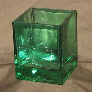 Buy Green Glass Cubes for St. Patrick's Day Tables
