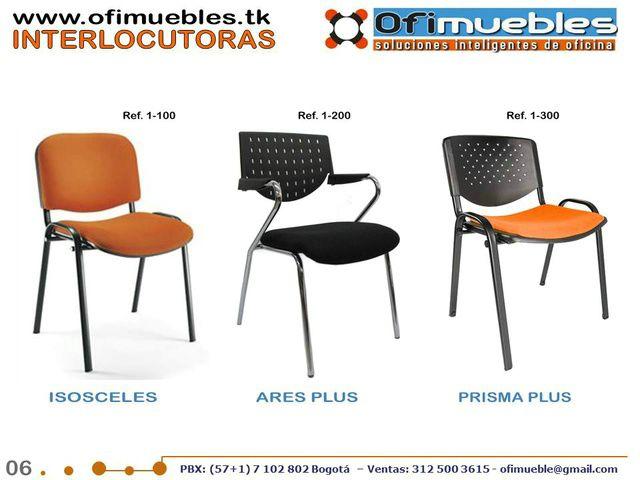 Ofimuebles colombia muebles para oficina sillas for Sillas para oficina bogota