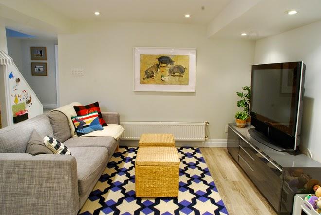 Rambling Renovators | entertainment zone basement