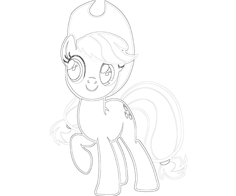 #5 My Little Pony Applejack Coloring Page