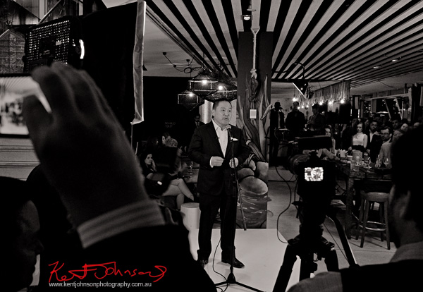 Speeches,  Cruise Bar re-launch. Photography by Kent Johnson - Street Fashion Sydney.