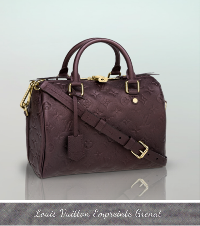 Louis Vuitton Empreinte, new colors, bags fall winter 2013, grenat empreinte