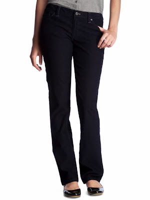 Cool  Black Womens Corduroy Jeans Straight Slim Trousers Black UK SIZE 10