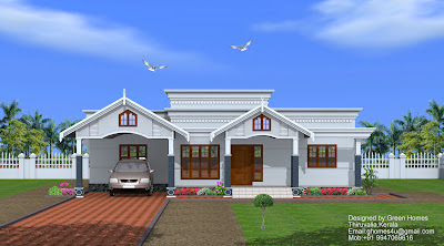 2750 Sq.feet single floor home designed by Green Homes,Thiruvalla
