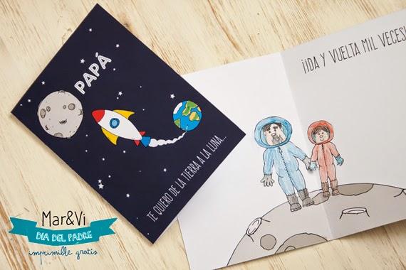 Mar&Vi Blog: Regalo del Día del Padre: tarjeta para imprimir gratis!