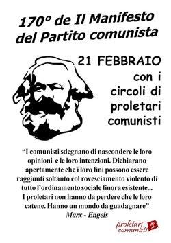 170° anniversario del Manifesto comunista