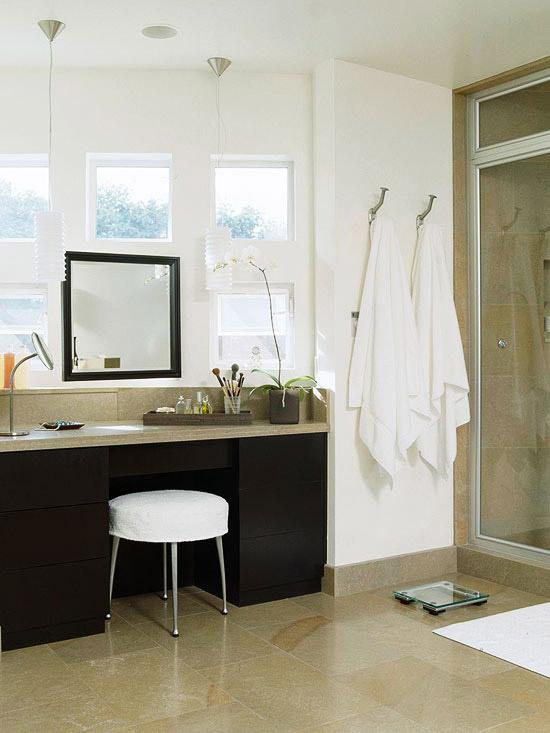 New home interior design bathroom makeup vanity ideas - Bathroom makeup vanity ideas ...