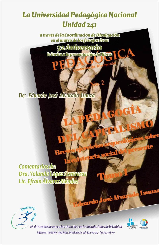 """Presentación del libro """"La pedagogía del capitalismo / Tomo I"""""""