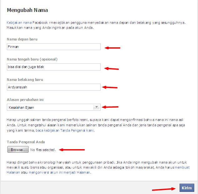 Cara Mengganti Nama Facebook Yang Sudah Limit Gratis Sepuasnya