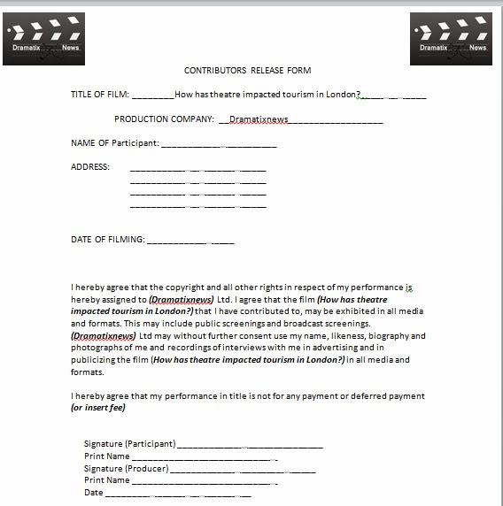 DramatixNews: Release form for interview subjects (Christopher)