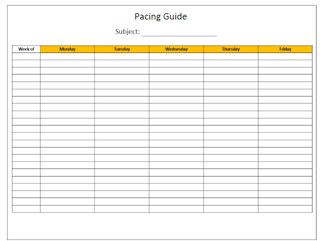 Pacing Guide Templates
