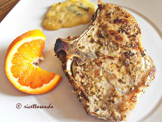 Braciole di maiale con salsa all'arancia ricetta semplice